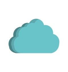 cloud computing isolated icon vector image