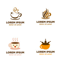 coffee cup logo collection vector image