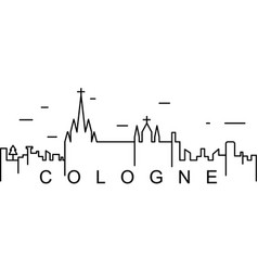 cologne outline icon can be used for web logo vector image