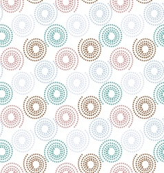 Colorful dot circle pattern background vector