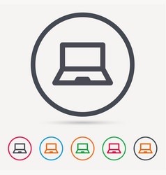 computer icon notebook or laptop pc sign vector image