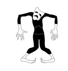 Dancing actor in tights theatrical tragedy mask vector