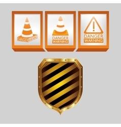 Danger warning design vector
