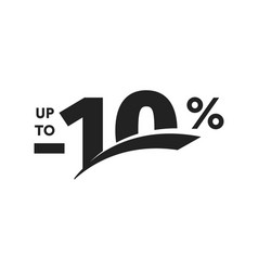 discount symbol business promotion sticker hot vector image