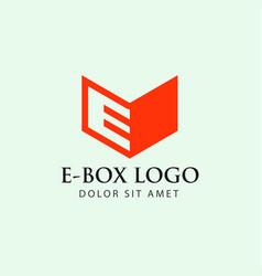 E-box logo template design vector