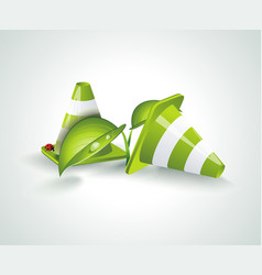eco green symbol nature design elements vector image