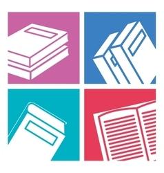 educational books design vector image