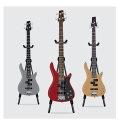 Electric Bass Guitar set vector image