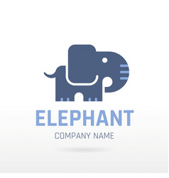 Elephant wild animal icon text lettering logo vector