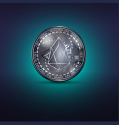 eos metal coin vector image