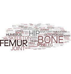 Femur word cloud concept vector