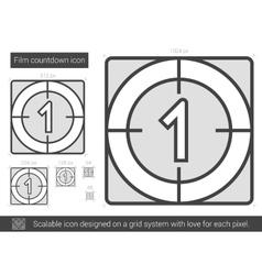 Film countdown line icon vector