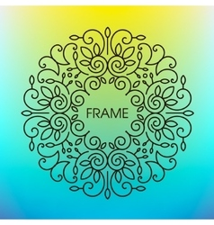 Floral frame with copy space for text in vector