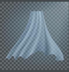 Fluttering white cloth fluttering curved vector