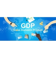 Gdp gross domestic product financial vector