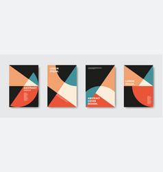 geometric retro vibe posters vector image