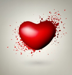 Heart With Red Splashes vector