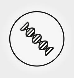 helix dna icon editable thin line vector image
