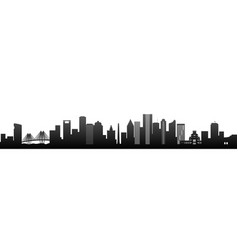 houston black silhouette skyscrapers vector image