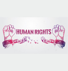 Human rights poster vector