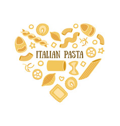 italian pasta banner template with different types vector image