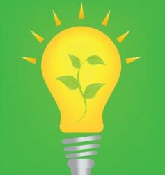 Lightbulb and environment vector