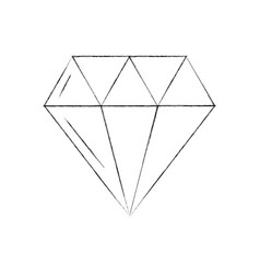 luxury diamond isolated icon vector image