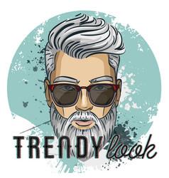 Man model hipster vector
