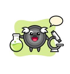 Mascot character camera lens as a scientist vector
