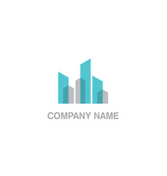 modern building cityscape business logo vector image