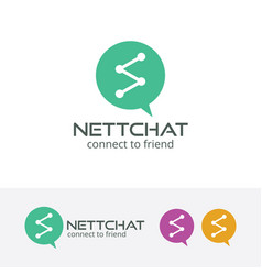 network chat logo vector image