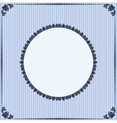 Ornate floral frame vector