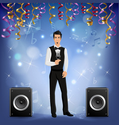 Party celebration singer realistic vector