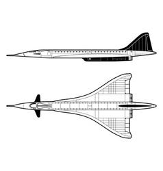 passenger aircraft vector image