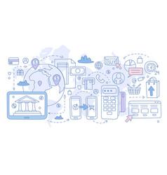 payment methods infographics vector image
