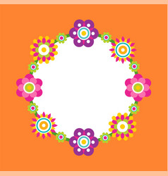 photo frame made of abstract flower blossoms vector image