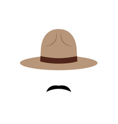 Policeman with canadian hat icon vector