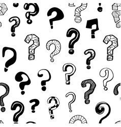 question marks signs black seamless pattern vector image