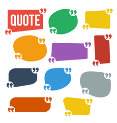 Quote frame set frame for text comment vector