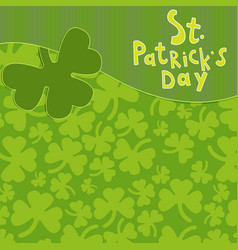 Saint patrick s day greeting card vector