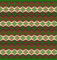 Seamless pattern with chocolates and mistletoe vector