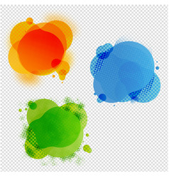 speech bubble collection transparent background vector image