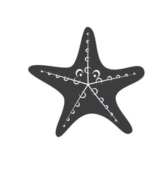 Starfish silhouette isolated vector