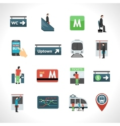 Subway Icons Set vector image