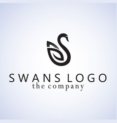 Swans design on background vector