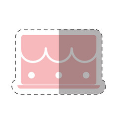 Sweet cake dessert shadow vector