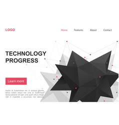 Technology science progress landing page vector