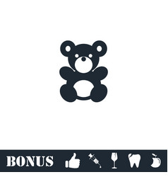 teddy bear icon flat vector image