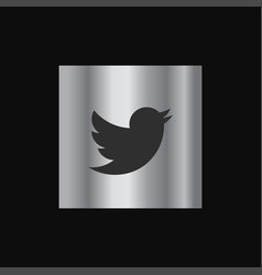 twitter icon design vector image