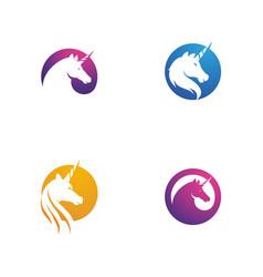 Unicorn logo icon vector